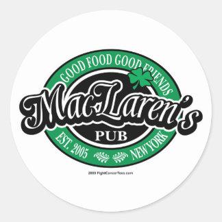 MacLaren's Pub Round Sticker