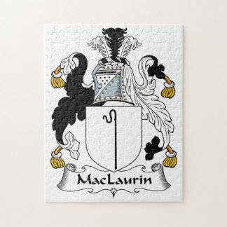 MacLaurin Family Crest Jigsaw Puzzle
