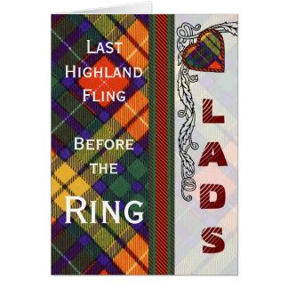 MacLea clan Plaid Scottish kilt tartan Card