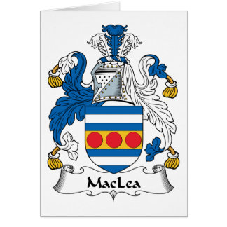 MacLea Family Crest Card