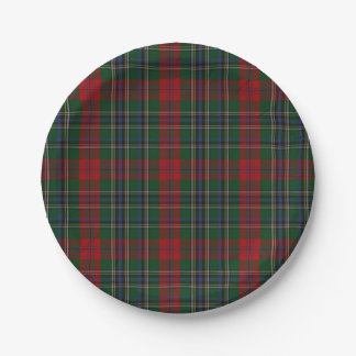 MacLean Clan Tartan Plaid Paper Plate