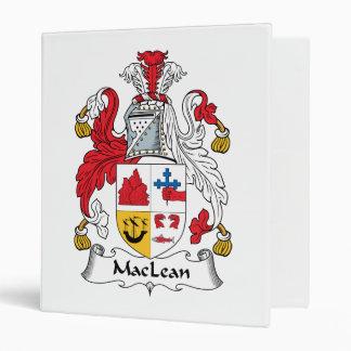 MacLean Family Crest 3 Ring Binders