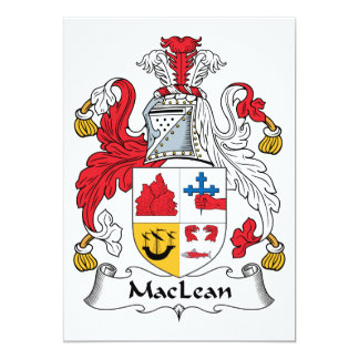 MacLean Family Crest Announcements