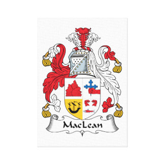 MacLean Family Crest Canvas Print