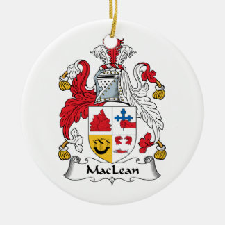 MacLean Family Crest Christmas Tree Ornament