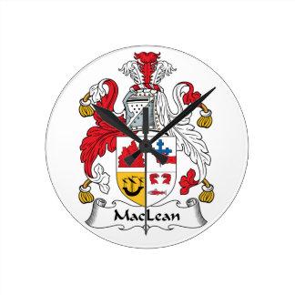 MacLean Family Crest Clocks