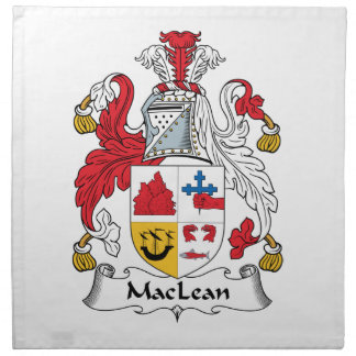 MacLean Family Crest Cloth Napkins