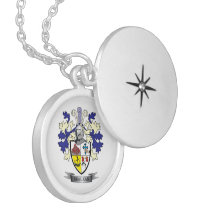 MacLean Family Crest Coat of Arms Silver Plated Necklace