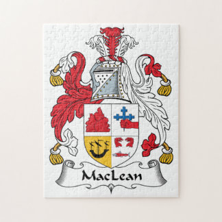 MacLean Family Crest Jigsaw Puzzles
