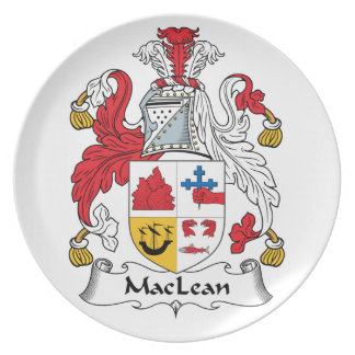 MacLean Family Crest Party Plates