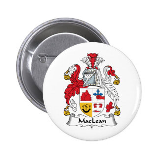 MacLean Family Crest Pinback Buttons