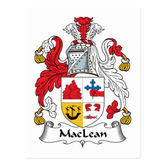 MacLean Family Crest Postcards