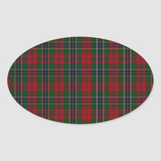 MacLean / McLean Clan Family Tartan Oval Sticker
