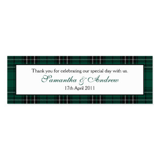 MacLean Modern Hunting Tartan Favour Tags Business Cards