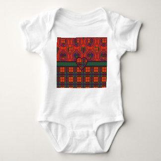 Maclean of Duart Plaid Scottish tartan Baby Bodysuit