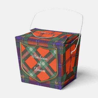 Maclean of Duart Plaid Scottish tartan Party Favor Box