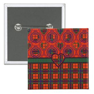 Maclean of Duart Plaid Scottish tartan Pinback Button