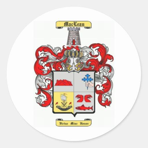 MacLean Pegatina Redonda