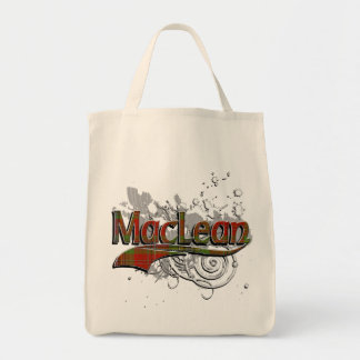 MacLean Tartan Grunge Grocery Tote Bag