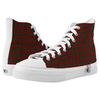 Maclean Tartan Scottish Modern MacLean of Duart High-Top Sneakers