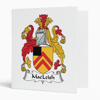 MacLeish Family Crest 3 Ring Binder