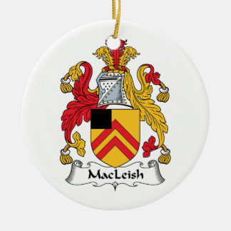 MacLeish Family Crest Christmas Tree Ornaments