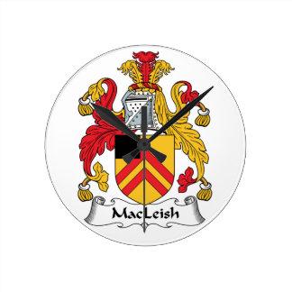 MacLeish Family Crest Clocks