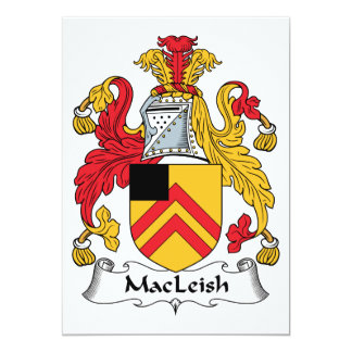 MacLeish Family Crest Custom Announcements