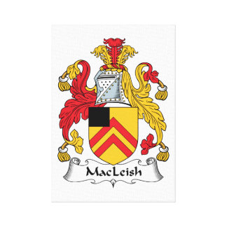 MacLeish Family Crest Gallery Wrapped Canvas