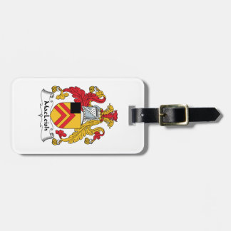 MacLeish Family Crest Luggage Tag