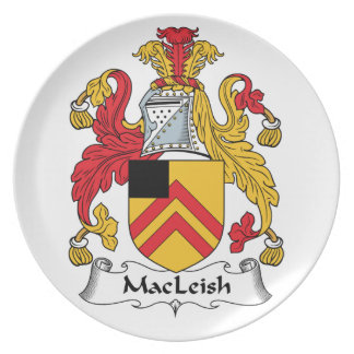 MacLeish Family Crest Party Plates