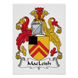 MacLeish Family Crest Poster
