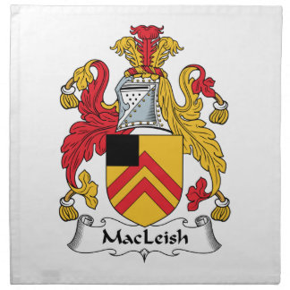 MacLeish Family Crest Printed Napkin