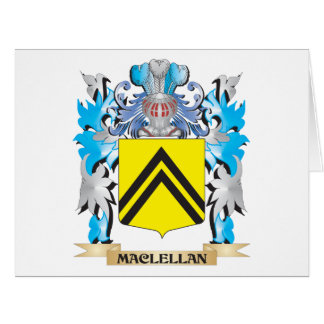 Maclellan Coat of Arms - Family Crest Large Greeting Card