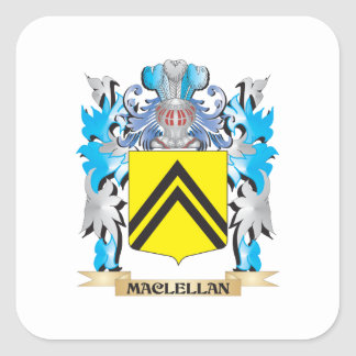 Maclellan Coat of Arms - Family Crest Square Sticker