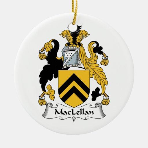 MacLellan Family Crest Christmas Tree Ornament