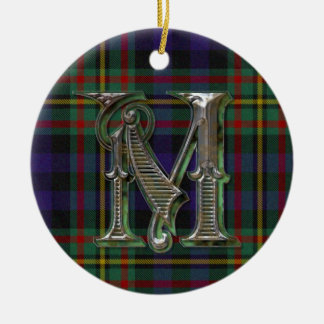 MacLellan Plaid Monogram ornament