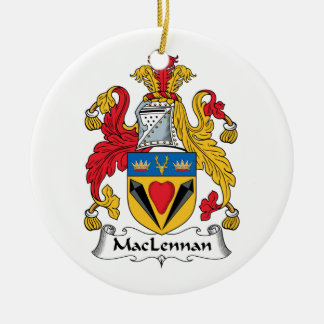 MacLennan Family Crest Ceramic Ornament