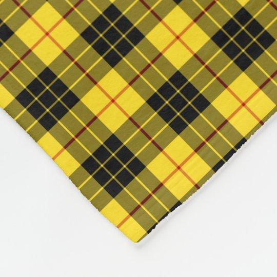 macleod clan bright yellow and black tartan fleece blanket zazzle com