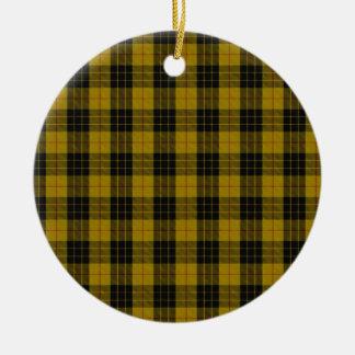 "MacLeod Clan Tartan (aka ""Loud MacLeod"") Double-Sided Ceramic Round Christmas Ornament"
