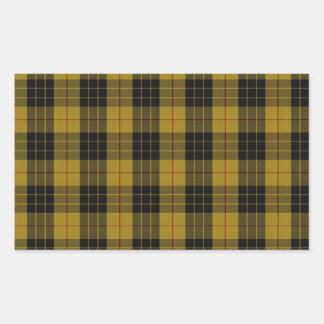"MacLeod Clan Tartan (aka ""Loud MacLeod"") Rectangular Sticker"