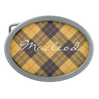 Macleod del tartán de Lewis y del escocés de Ramsa Hebillas De Cinturón