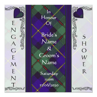 """Macleod del tartán del escocés de Harris Invitación 5.25"""" X 5.25"""""""