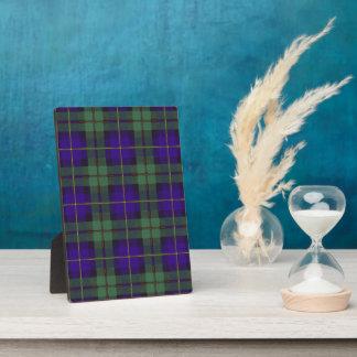 Macleod del tartán del escocés de la tela escocesa placa
