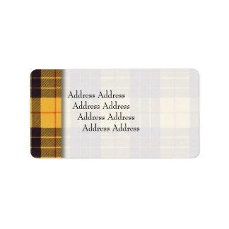 Macleod del tartán del escocés de Lewis y de la Etiquetas De Dirección