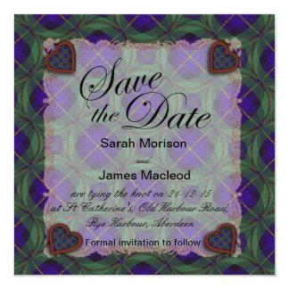 """Macleod del tartán escocés del clan de Harris - Invitación 5.25"""" X 5.25"""""""