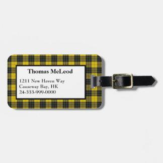MacLeod Dress Tartan Plaid Luggage Tag
