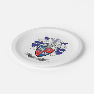 MacLeod Family Crest Coat of Arms Paper Plate