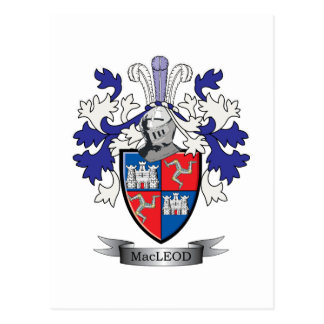 MacLeod Family Crest Coat of Arms Postcard