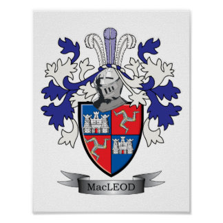MacLeod Family Crest Coat of Arms Poster